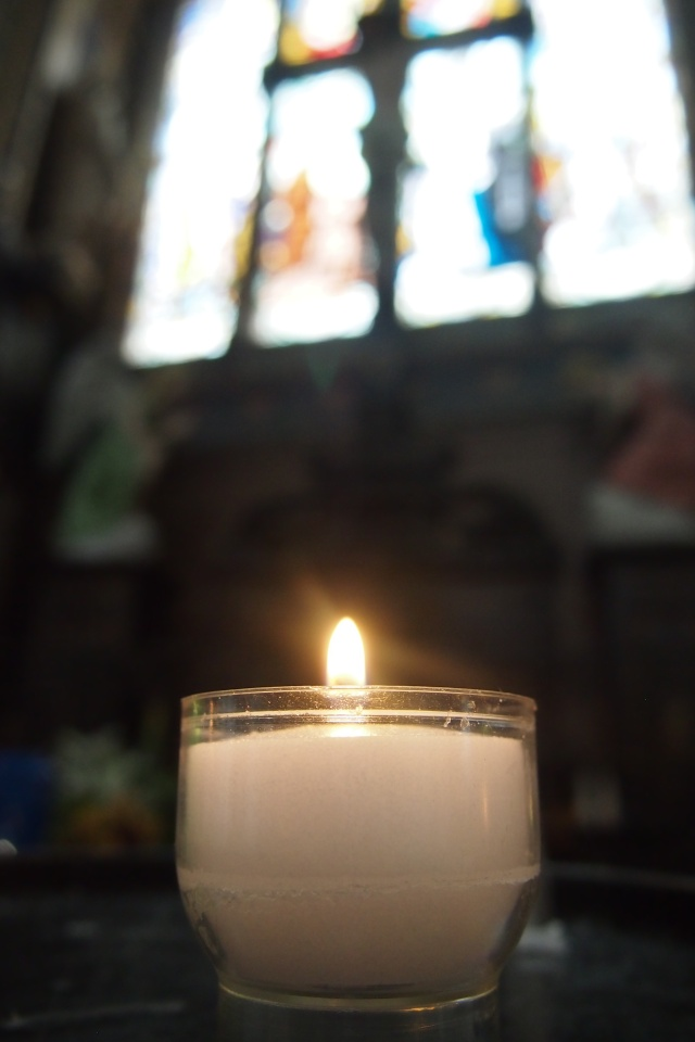 I always light a candle when I visit a church, especially when it's new. And I always wish for the same thing: happiness and health not just for me, but for all my loved ones, especially my two little boys.
